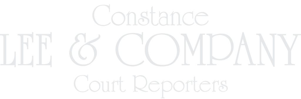 Constance Lee and Company Court Reporters Logo